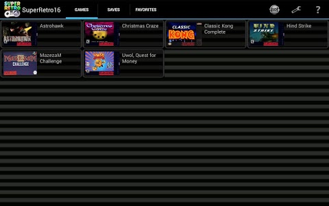 screenshot of SuperRetro16 (SNES Emulator) version 1.9.5