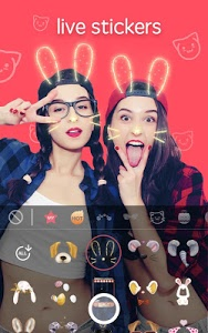 screenshot of Sweet Snap - live filter, Selfie photo edit version Varies with device