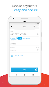 screenshot of Swish payments version Varies with device