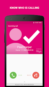 screenshot of T-Mobile Name ID version Varies with device
