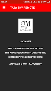screenshot of Tata Sky Remote Control version 2.0