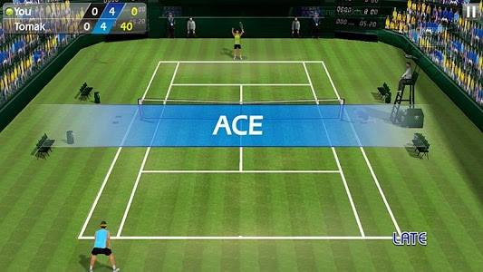 screenshot of 3D Tennis version 1.8.0