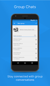 screenshot of Signal Private Messenger version 4.9.9