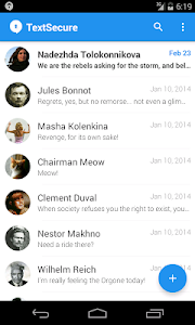 screenshot of TextSecure Private Messenger version 2.17.0