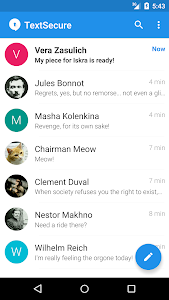 screenshot of Signal Private Messenger version 3.17.0