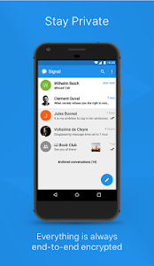 screenshot of Signal Private Messenger version 4.10.12