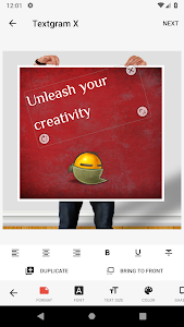screenshot of Textgram X - Write on photos version Varies with device