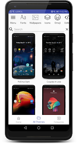screenshot of Themes Manager for Huawei / Honor / EMUI version 81.6.1.release