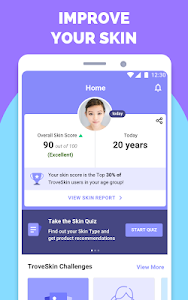 screenshot of TroveSkin: Your Skincare Coach version 5.70
