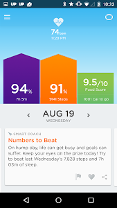 screenshot of UP by Jawbone - UP2/3/4/Phone version 4.14.1