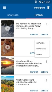 screenshot of Video Downloader for Instagram version 1.1.12