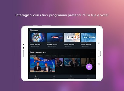 screenshot of Mediaset Play version 5.1.6