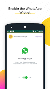 screenshot of Voice Changer for WhatsApp version 1.3