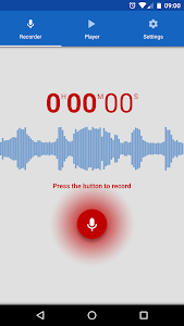 screenshot of Voice Recorder version 2.0.20
