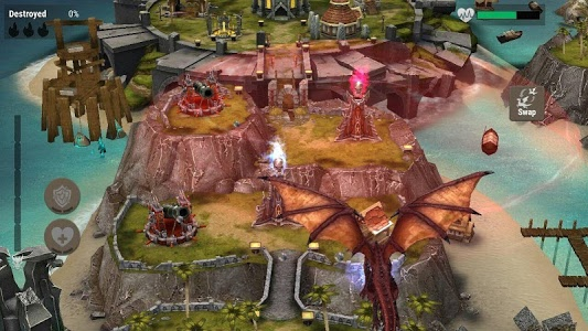 screenshot of War Dragons version 5.00.0+gn
