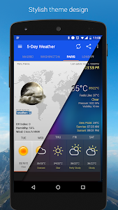screenshot of Weather & Clock Widget for Android version 5.9.4.7