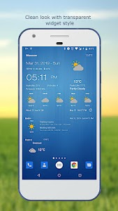 screenshot of Weather & Clock Widget for Android version 6.1.3.3