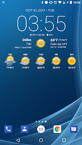 screenshot of Weather & Clock Widget for Android version 5.9.5.4