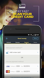 screenshot of Western Union CA - Send Money Transfers Quickly version 2.2