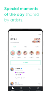 screenshot of Weverse version 1.1.2