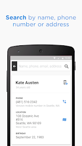 screenshot of Whitepages - Find People version 3.3.27