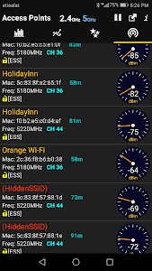 screenshot of WiFi Analyzer version Varies with device