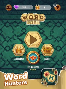 screenshot of Word Hunters - Online & Offline Word Game version 1.0