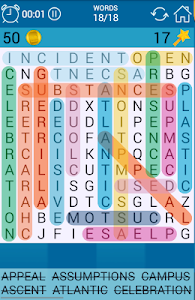 screenshot of Word Search version 2.8.4
