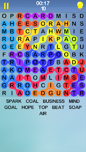 screenshot of Word Search Puzzle, A Free Infinity Crossword Game version 4.1.7