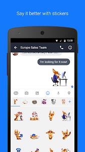screenshot of Workplace Chat by Facebook version 216.0.0.20.114