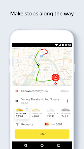 screenshot of Yandex.Taxi Ride-Hailing Service version Varies with device