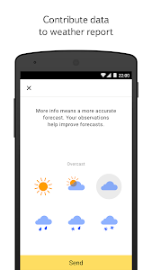 screenshot of Yandex.Weather version Varies with device