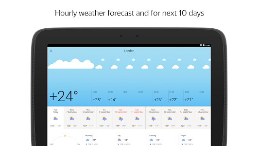 screenshot of Yandex.Weather version 5.0