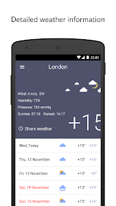screenshot of Yandex.Weather version 4.08