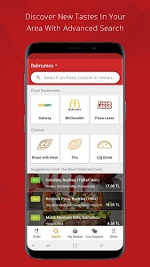 screenshot of Yemeksepeti - Order Food Easily version 3.1.4