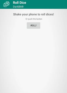 screenshot of Roll Dice! (Shake Phone and Roll Dices) version 3.0.3
