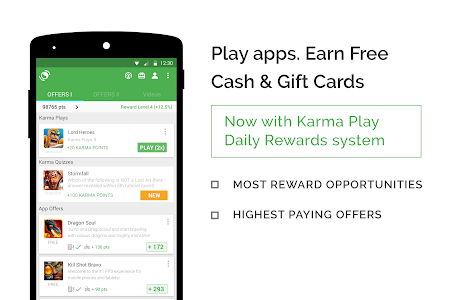 screenshot of appKarma Rewards & Gift Cards version 3.3.11