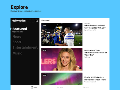 screenshot of Dailymotion - the home for videos that matter version Varies with device