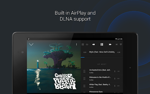 screenshot of doubleTwist Music & Podcast Player with Sync version 3.3.9