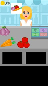 screenshot of grocery store shopping game version 1.0