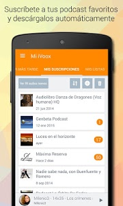screenshot of iVoox Podcast version 2.0.4