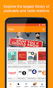 screenshot of Podcast & Radio iVoox version 2.243