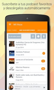 screenshot of IVoox Radio y Podcast version 2.6.1