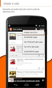 screenshot of iVoox Podcast version 1.9.2