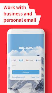 screenshot of myMail – Email for Hotmail, Gmail and Outlook Mail version Varies with device