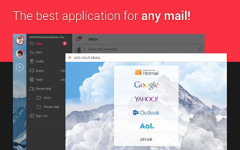 screenshot of myMail—Free Email Application version Varies with device
