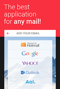 screenshot of myMail—Free Email Application version 0x7f0704b1
